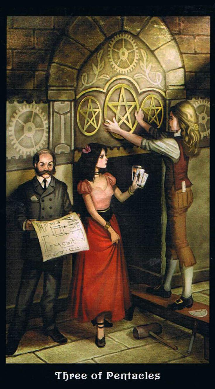 The Three Of Pentacles - Steampunk Tarot