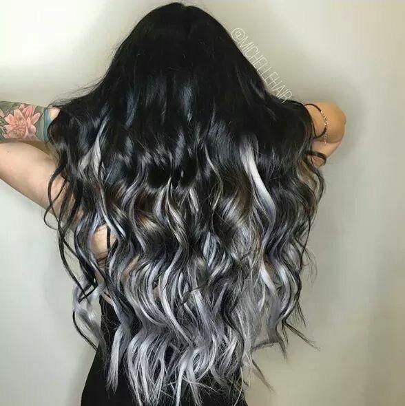 Grey ombré hair