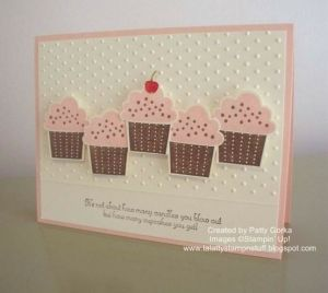 create a cupcake stampin up by karen.x
