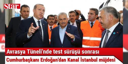 """Avrasya Tünelinde test sürüşü yapan Cumhurbaşkanı Erdoğandan Kanal İstanbul müjdesi : Cumhurbaşkanı Recep Tayyip Erdoğan Avrasya Tüneli test töreninde konuştu. Cumhurbaşkanı Erdoğan """"Yavuz Sultan Selim bizim iftiharımız.Osmangazi Köprüsü yine bizim için bir iftihar. Bununla kalmadık. Şimdi Avrasya Tüneli bunun bir adımı. Kanal İstanbul projesinin yakın zamanda ihalesi yapılacak"""" dedi.  http://ift.tt/2d20gcc #Politika   #Avrasya #Cumhurbaşkanı #Erdoğan #Tüneli #bizim"""