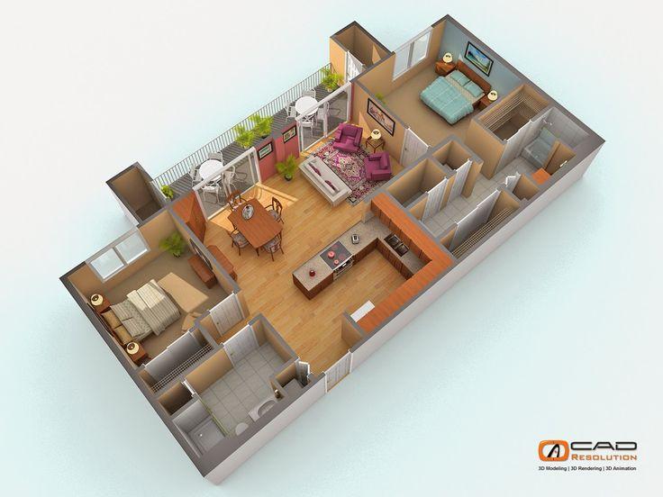 9 best 3d floor plan rendering images on pinterest for 3d floor plan rendering