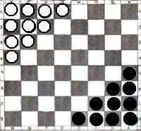 Reglas de juego simples: Halma para tablero de Ajedrez