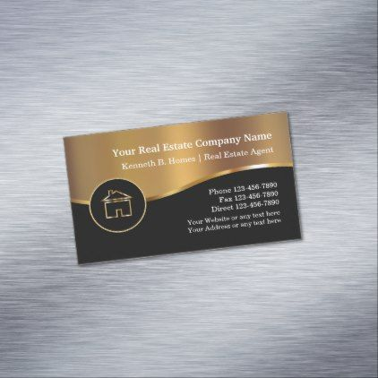 Classy Real Estate Industry Magnetic Business Card Magnetic