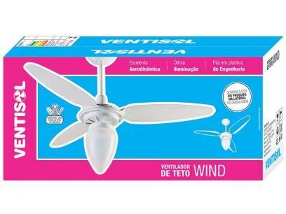 Ventilador de Teto Ventisol Wind 3 Pás - 1 Velocidade Mogno para 1 Lâmpada com as melhores condições você encontra no Magazine Asualojadigital. Confira!