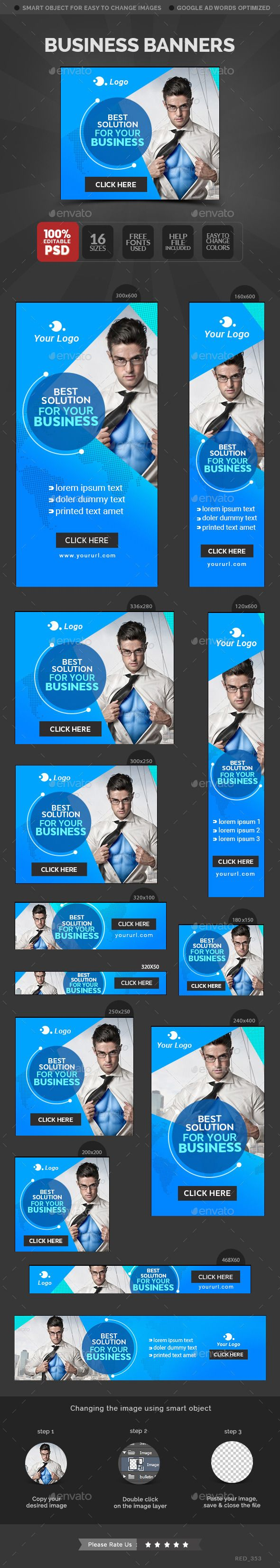 Business Web Banners Template #webbanners #design Download: http://graphicriver.net/item/business-banners/12046455?ref=ksioks