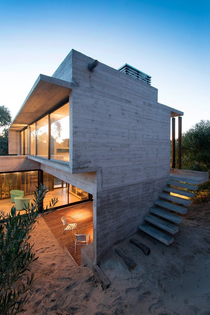Luciano Kruk Designs A Concrete Holiday Home In Argentina