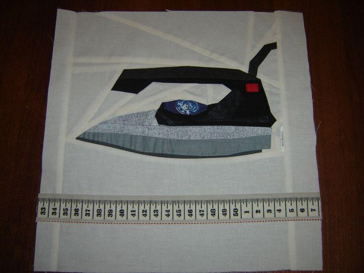 šití přez papír můj blok do klubové deky na téma -šicí potřeby