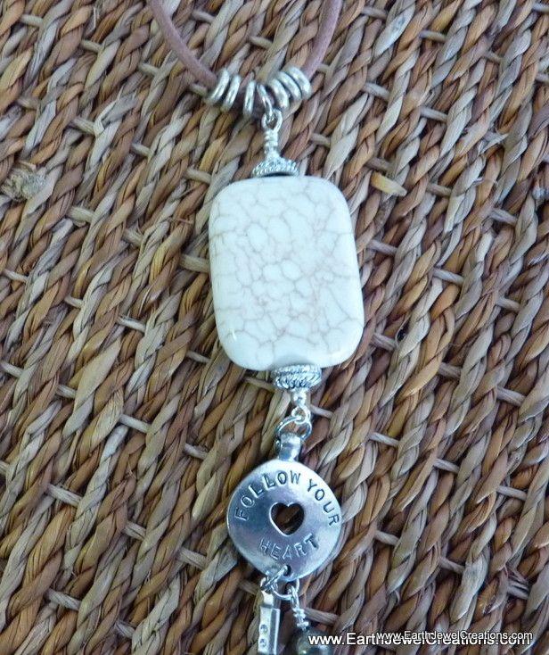"""Magnesite """"Harmony"""" Pendant - handmade crystal energy gemstone jewellery Earth Jewel Creations Australia"""