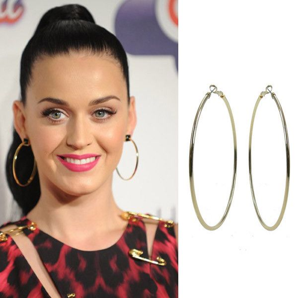 Get the Look: Katy Perry Style  Nothing says party quite like big hoop earrings. #leethalfashion