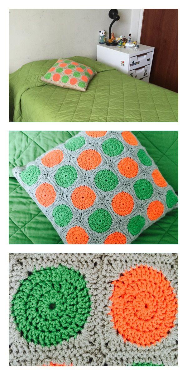 Cojines #crochet #grannysquare