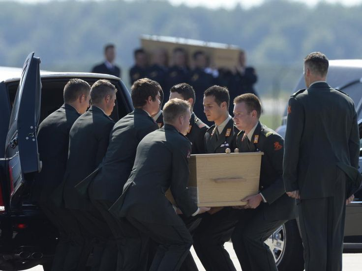 First 40 victims MH17 arrival in Netherlands.