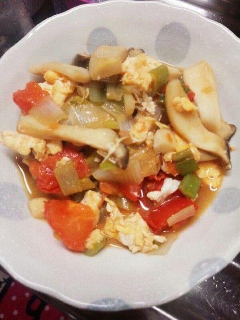 ♡トマトと卵のさっぱり中華炒め♡ by ♡ちぃタンまま♡ [クックパッド] 簡単おいしいみんなのレシピが228万品
