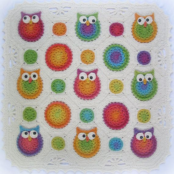Free Crochet Pattern For Owl Afghan : 1000+ ideas about Owl Afghan on Pinterest Owl blanket ...