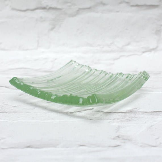 Recycled glass trinket dish  small glass bowl  by UrbanGlassStudio
