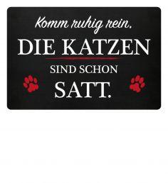 """Lustig – Die beste Fußmatte für Katzenliebhaber. """"Komm rein, die Katzen sind …"""