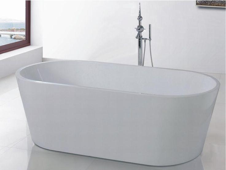 Badekar - Oval Ultraslim 120 - fritstående badekar http://www.spacenteret.dk/product/badekar-oval-ultraslim-120-fritstaaende-badekar-1340/