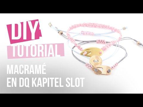 Sieraden maken: Armband met macramé draad en DQ kapitel slot ♡ DIY