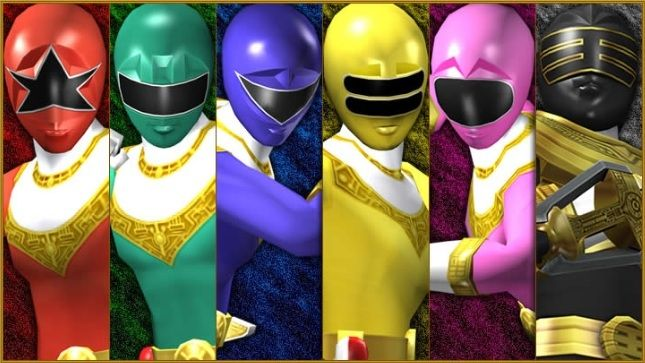 Red (Tommy) Zeo 5, Green (Adam) Zeo 4, Blue (Rocky) Zeo 3, Yellow (Tanya) Zeo 2, Pink (Catherine) Zeo 1, Gold (Jason)   POWER RANGERS ZEO