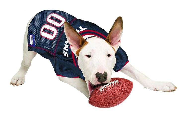 Official NFL Houston Texans Football Jersey for your Dog.  They come in all sizes!  So cute!  www.dogfootballjersey.com