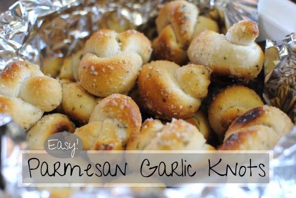 Easy parmesan garlic knots using pillsbury biscuits