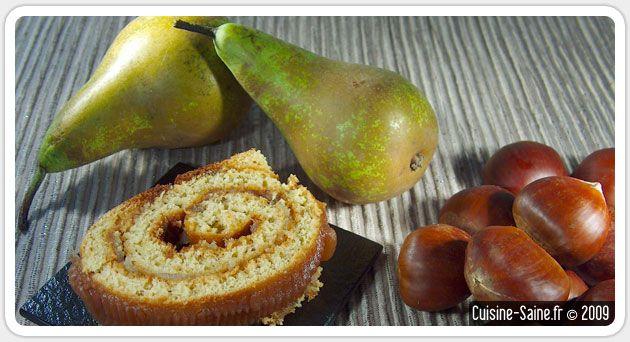 Recette de Noël : buche de Noël sans gluten à la poire et crème de châtaigne