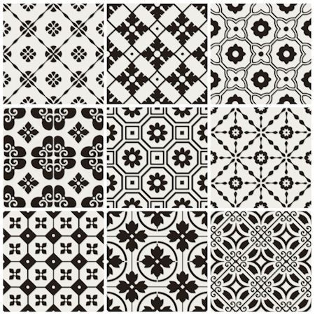 Laccio Black - Mandarin Stone. Gorgeous #tile patterns!