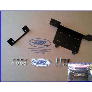 """Winch Mount For 2013 Polaris Ranger XP900 by Extreme Metal Products. $57.95. Extreme Metal Products Winch Mount For 2013 Polaris Ranger XP900 (Not RZR XP900) - Mount up to a 4500 lb winch inside your front bumper with this mounting plate. **Fits most major brand UTV winches. **Mounting holes for both regular winches and wide spool winches. **Bolt Patterns; 6-5/8"""" wide x 3"""" deep (wide spool) and 4-7/8"""" x 3"""" deep (regular spool). **Two Fair lead Bolt Patterns; 4-7/8"""" (regular spoo..."""
