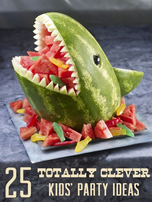 25 Totally Clever Kids' Party Ideas.  If you have the time this is a super cool way to serve refreshing watermelon. Follow me friends.  PinboardQueen