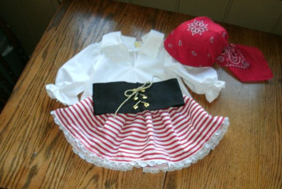 Argg Pirate CostumeGirl Baby Toddler by MackAbooLLC on Etsy, $75.00