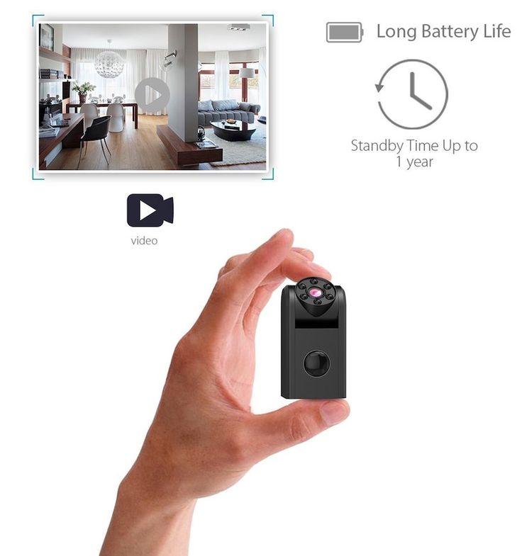 conbrov T11 - Mini cámara espía con detectores de movimiento, HD 720p - Mini Cámara oculta, visión nocturna por infrarrojos