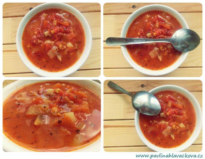 Delikátní rajčatovo čočková polévka Delicious tomato-lentil soup
