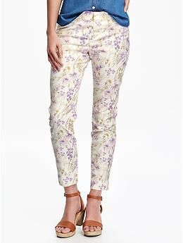 Patterned Pixie Chinos for Women | Old Navy