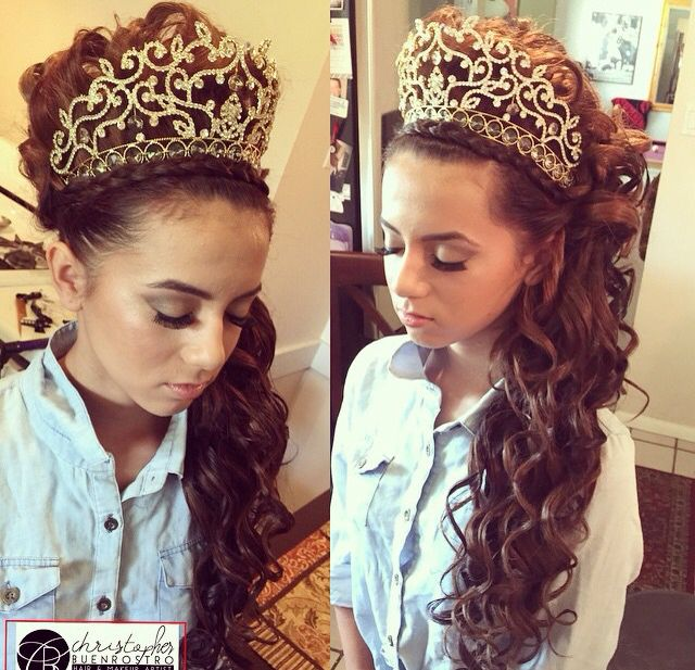Quince Hairstyles quinceanera hairstyles with tiara Find This Pin And More On Quinceanera Hairstyles By Greatresistance