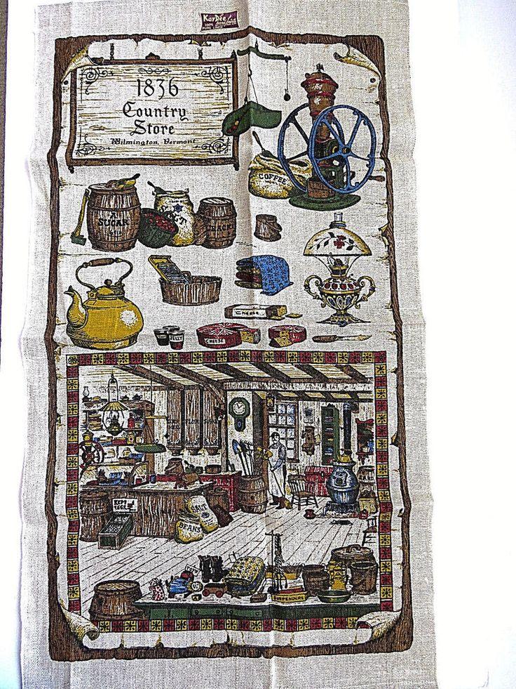 KAY DEE 1836 Country Store Wilmington Vermont Tea Dish Towel UNUSED Souvenir