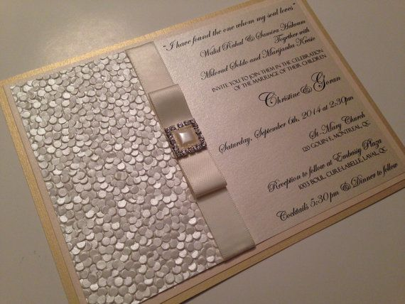 Wedding invitations elegant wedding invitations by PapierCouture1, $9.75