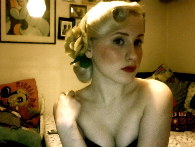 Victory roll updo