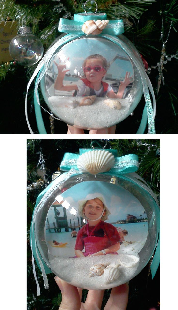Sand & Beach pictures Christmas globes-for Nana and Papa?