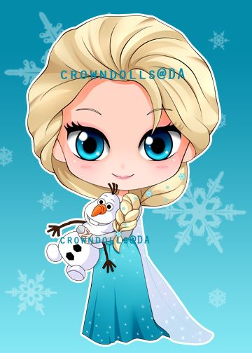 chibi elsa and olaf by crowndolls on deviantART