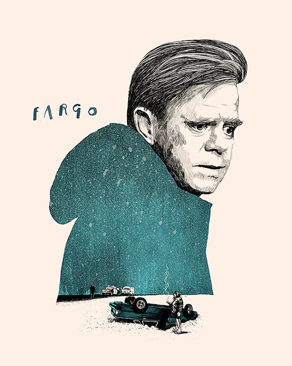 Fargo Film Poster by peterstrainshop on Etsy  Peter Strain is amazing