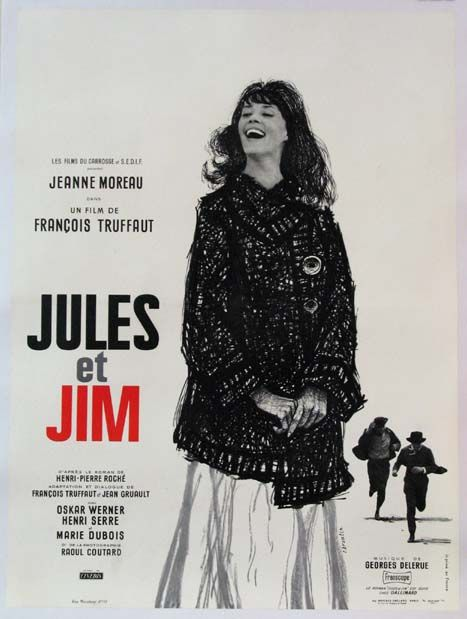 Jules et Jim (1962) story about two friends who maintain their friendship despite an tragically impulsive woman they both love; loved the screenplay