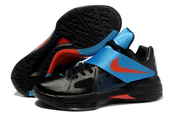 Nike Zoom KD IV X Black Team Orange Photo Blue 477677 001 Kevin Durant  Shoes 2013