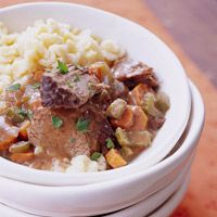 crockpot ~ german style beef roast ~ recipe ~ bhg.com ~ serve with hot cooked spaetzle or noodles. I'm so excited for this!