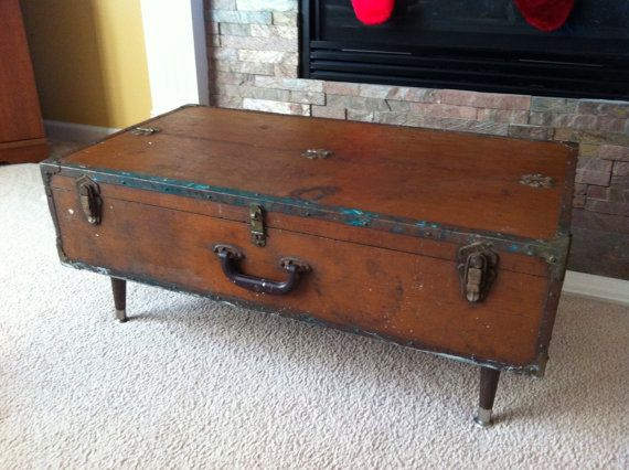 Vintage Tool Chest Coffee Table Repurposed by VintageGeneration, $249.00 replace the legs and WAY COOL!