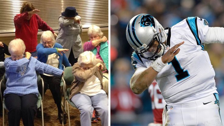 Elderly residents hit 'the dab' to support Cam Newton and the Panthers