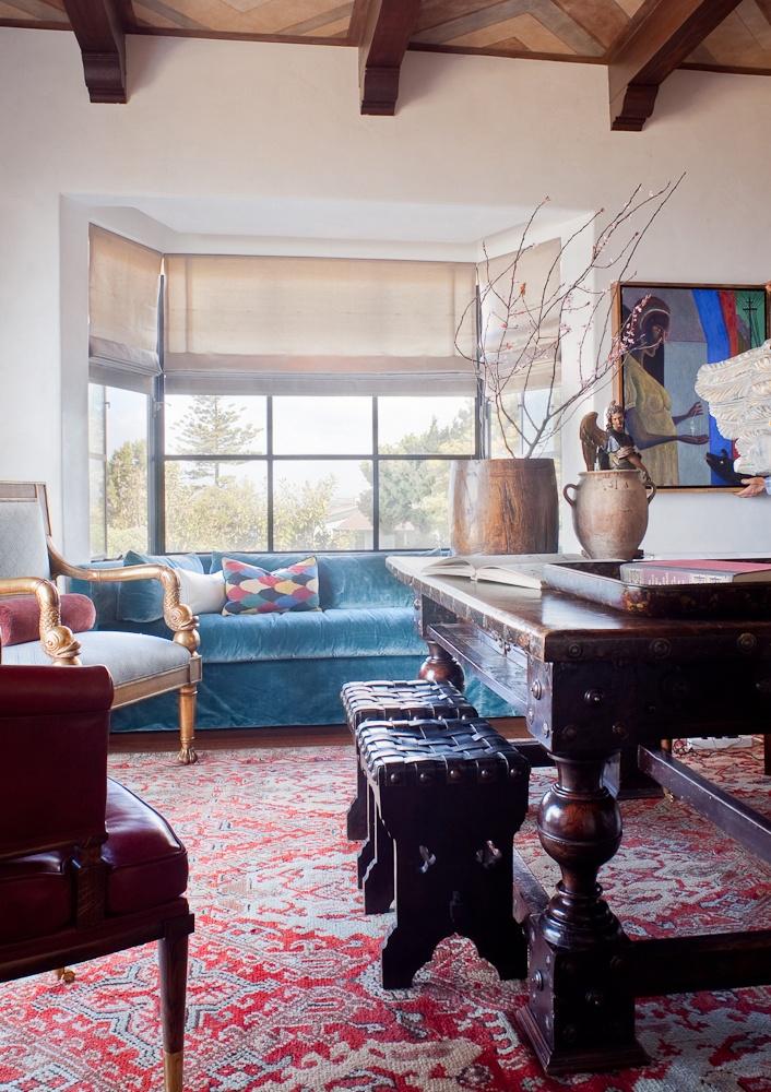 Library on a La Jolla home designed