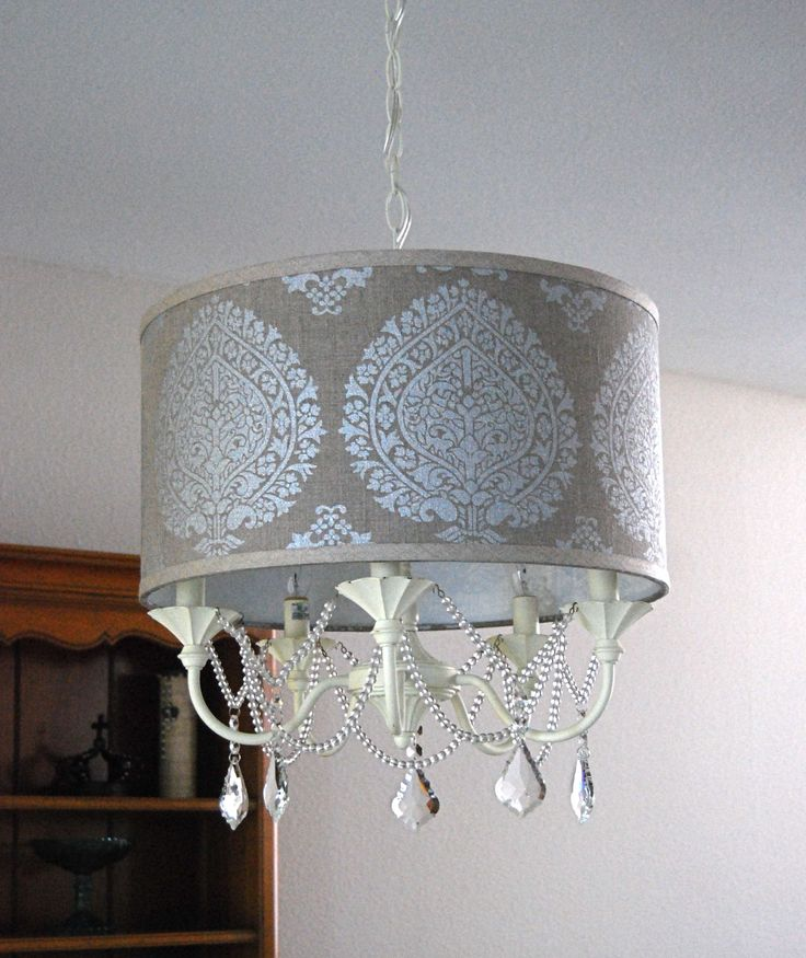 diy drum shade chandelier at - Drum Shade