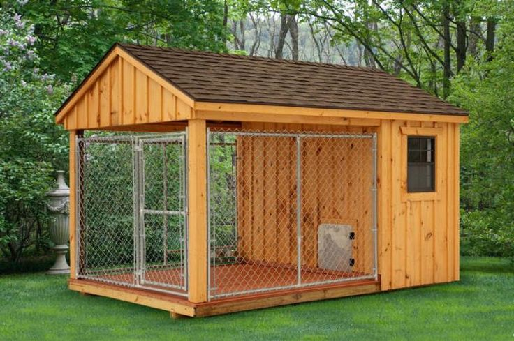 Outdoor dog kennel plans the great outdoors pinterest for Dog kennel shed combo plans