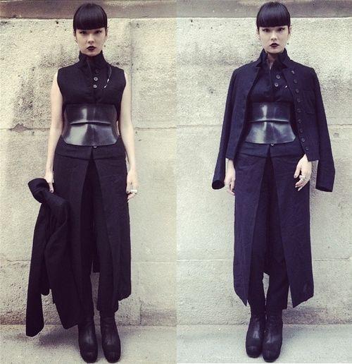 before ann demeulemeester show, paris fashion week
