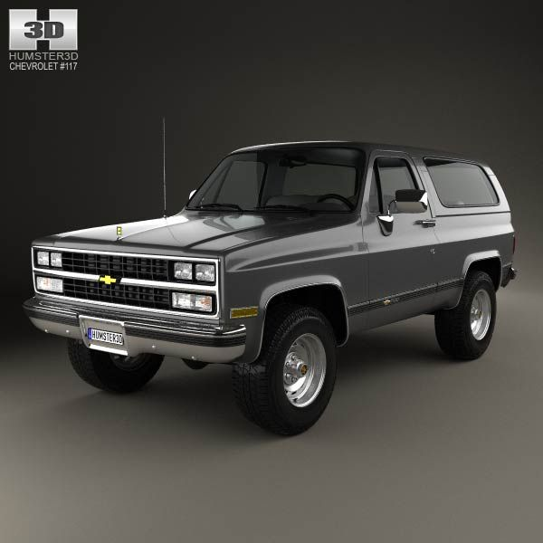 Chevrolet Blazer (K5) 1989 3d model from humster3d.com. Price: $75