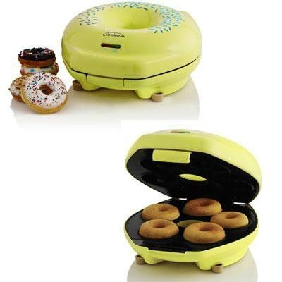 Jarden Sunbeam Donut Maker Yellow Unique Designed Donut Shapes Power on Ready Indicator Lights -- Learn more by visiting the affiliate link Amazon.com on image.